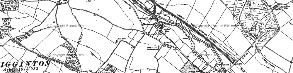 Old map of Dudswell in 1897