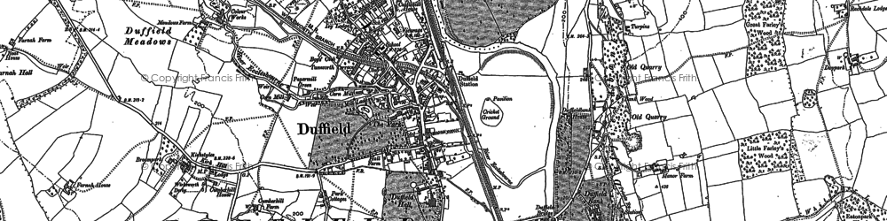 Old map of Duffield in 1880