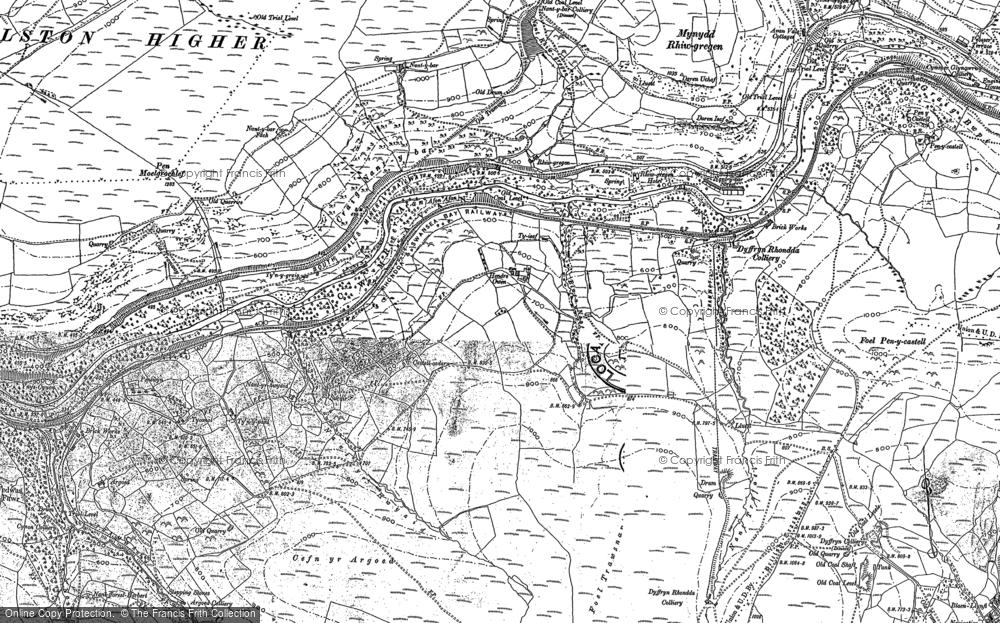Old Map of Duffryn, 1900 in 1900