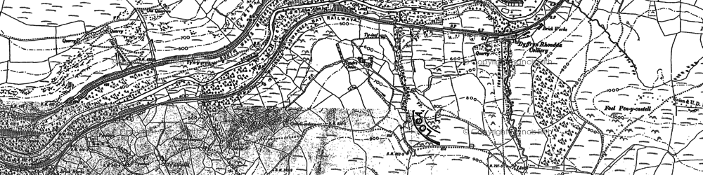 Old map of Duffryn in 1900