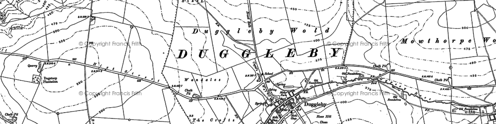 Old map of Wharram le Street in 1888