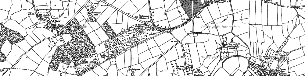 Old map of Aller in 1887