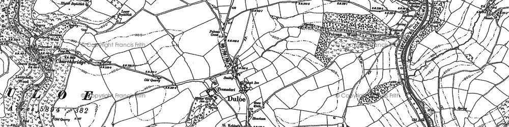 Old map of Churchbridge in 1881