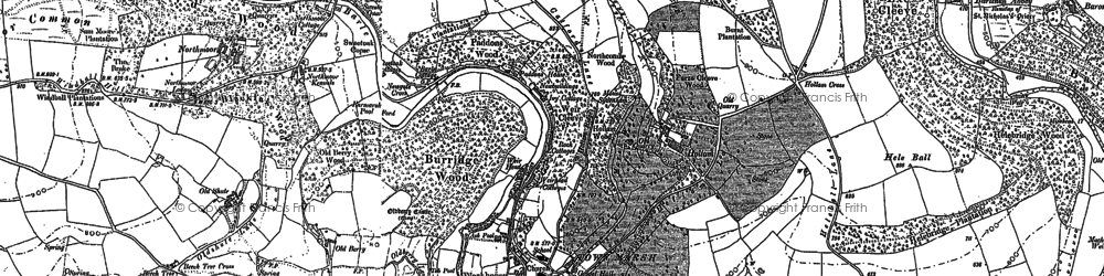 Old map of Wilway in 1902