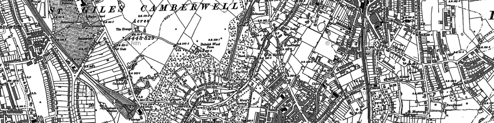 Old map of Forest Hill in 1894