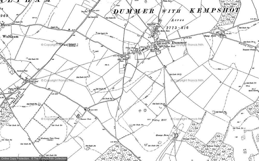 Old Map of Historic Map covering Tidley Hill in 1894