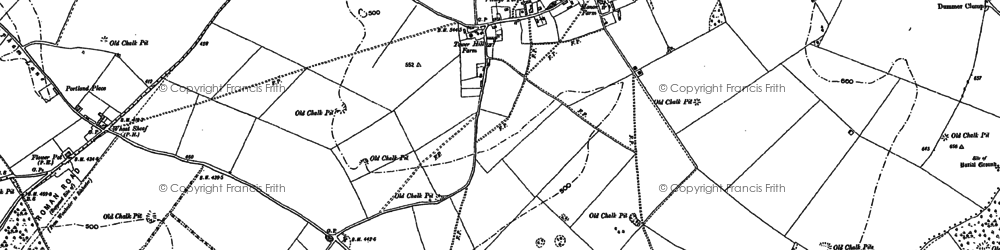 Old map of Tidley Hill in 1894