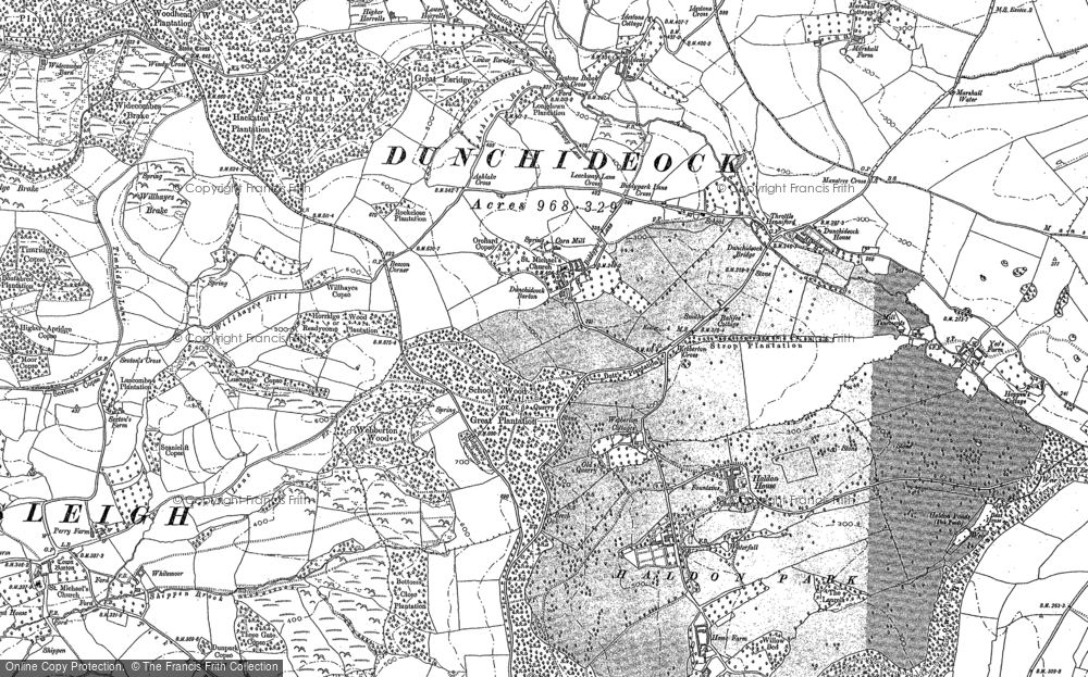 Old Map of Historic Map covering Lawrence Castle in 1887