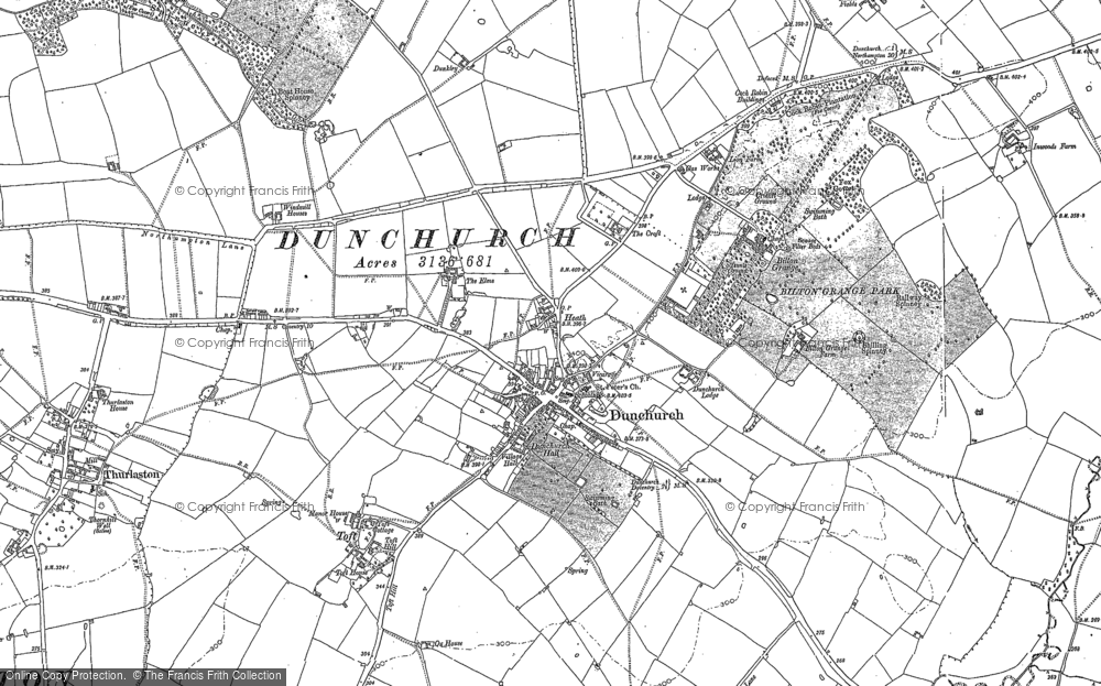 Old Map of Historic Map covering Ashlawn Ho in 1886