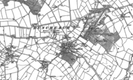Old Map of Dunchurch, 1886 - 1903