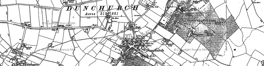 Old map of Ashlawn Ho in 1886