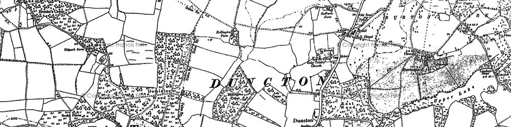Old map of Duncton in 1896