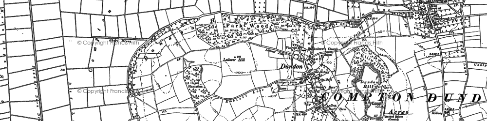 Old map of Dundon in 1885