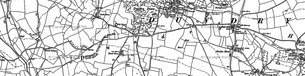 Old map of Dundry in 1883