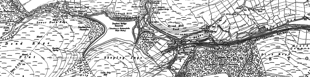 Old map of Langsett Moors in 1888