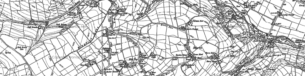 Old map of Tom Hill in 1890