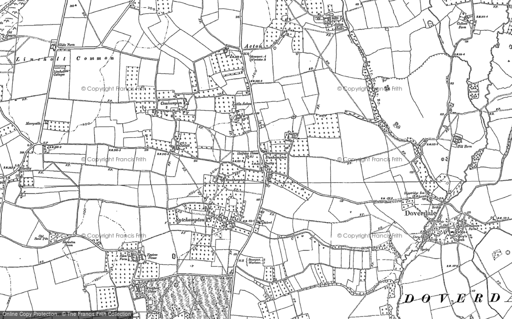 Old Map of Historic Map covering Acton in 1883