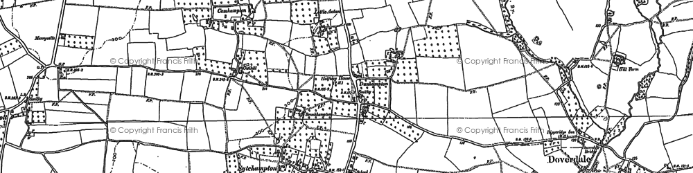 Old map of Acton in 1883