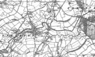 Old Map of Dunkerton, 1883 - 1884