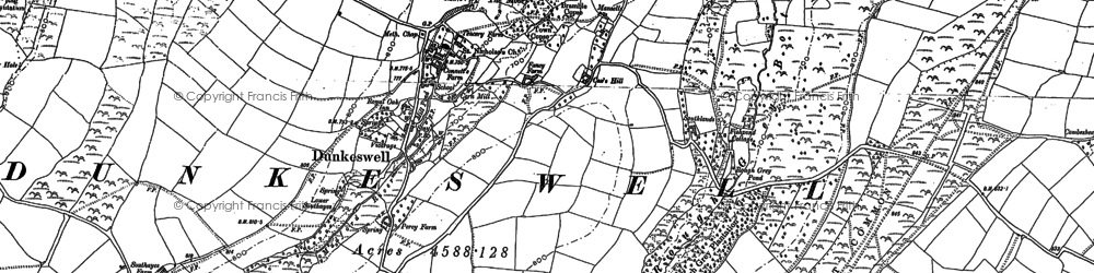 Old map of Wolford Lodge in 1887