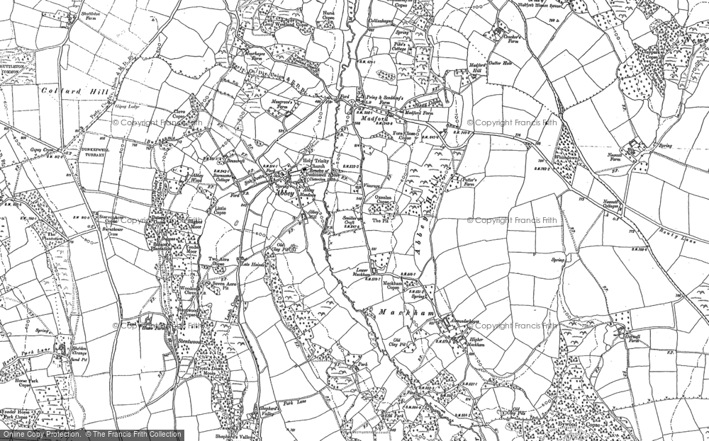 Old Map of Historic Map covering Abbey in 1887