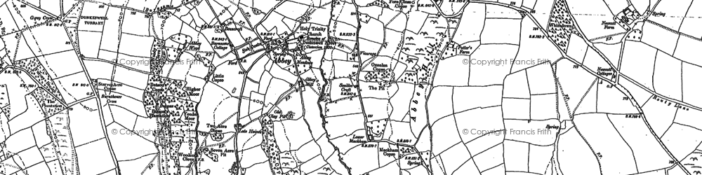 Old map of Abbey in 1887