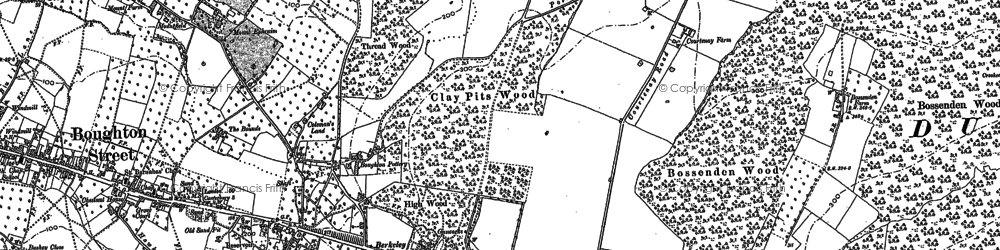 Old map of Winterbourne in 1896