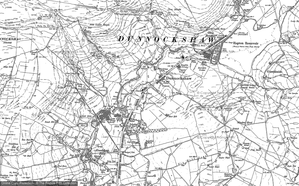 Old Map of Historic Map covering Limy Water in 1892
