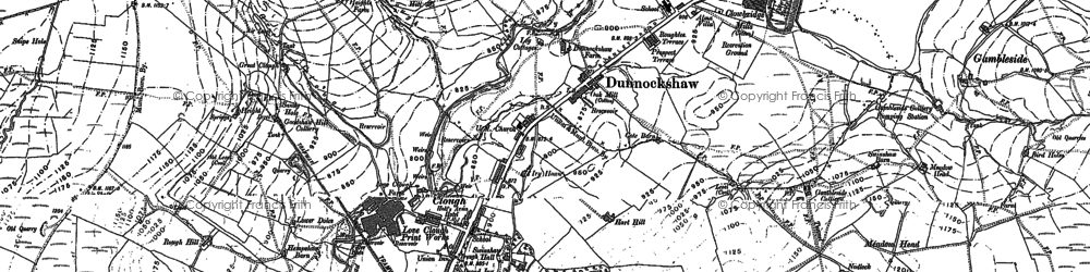 Old map of Limy Water in 1892