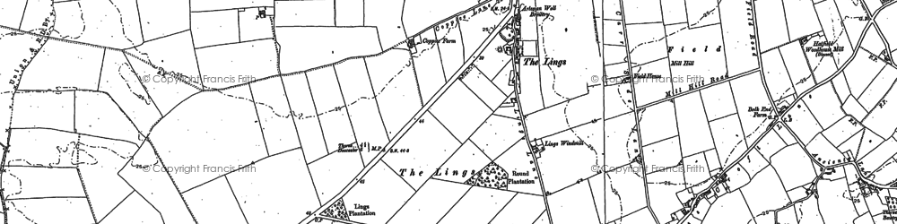 Old map of Ling Ho in 1891