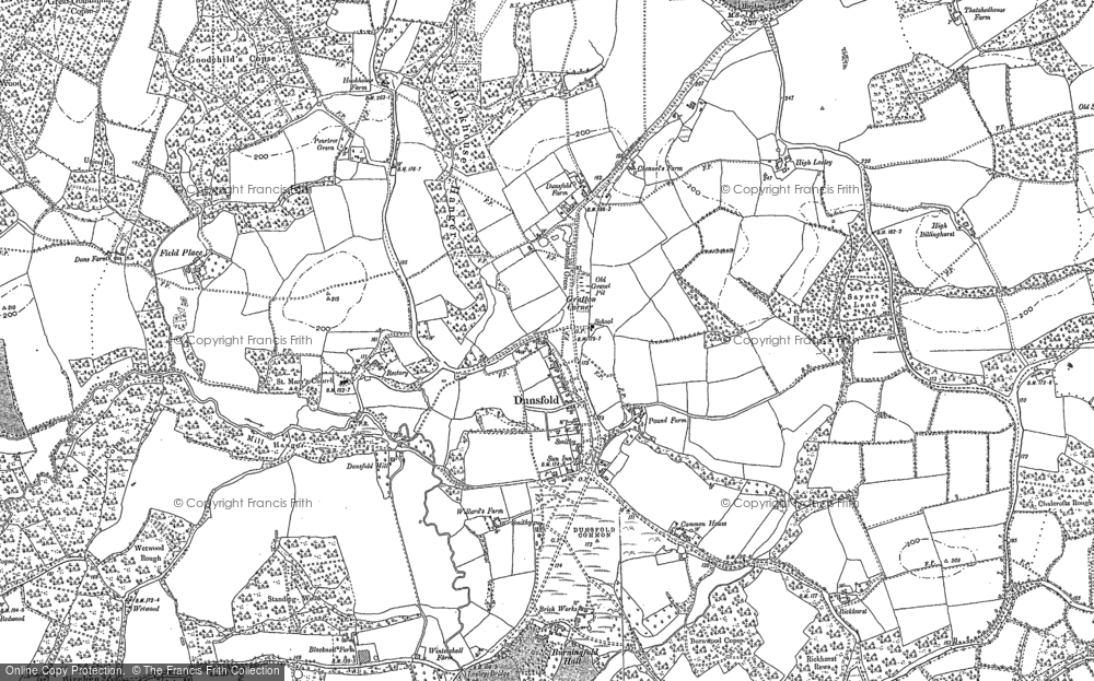 Old Map of Historic Map covering White Beech in 1895