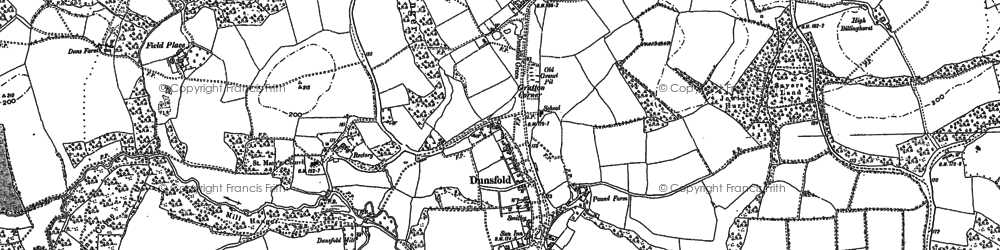 Old map of Dunsfold Green in 1895