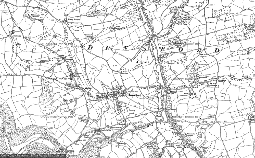 Old Map of Historic Map covering Langley in 1886
