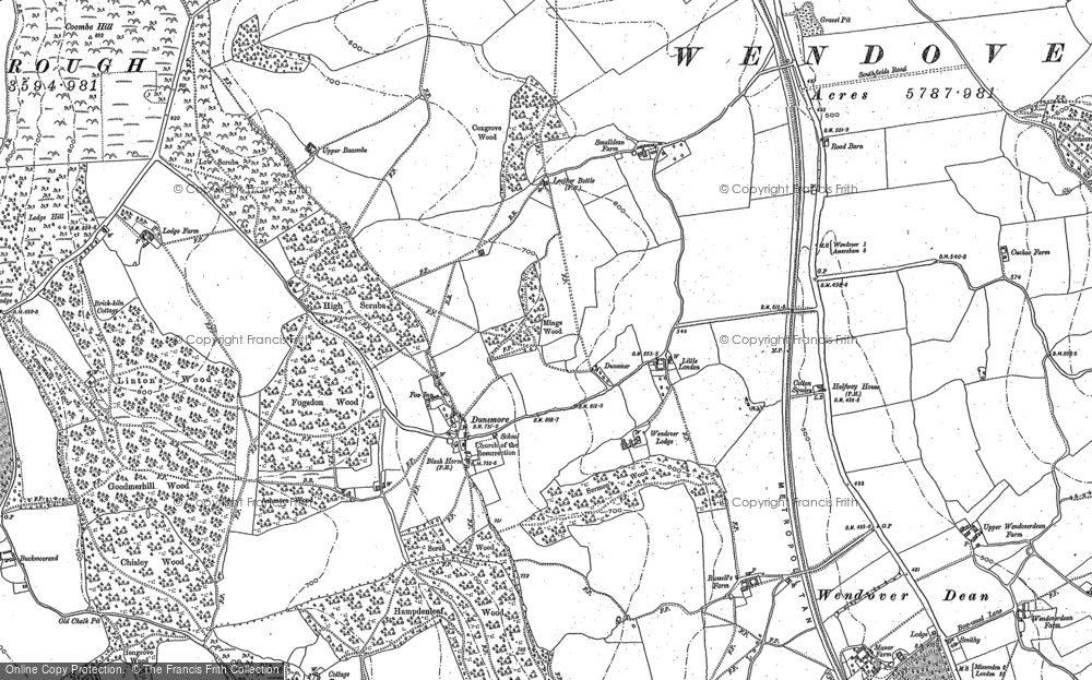 Old Maps of Three Hundreds of Aylesbury The Francis Frith