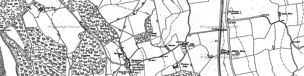 Old map of Bacombe Warren in 1897