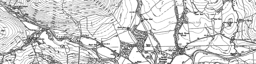 Old map of Back of Hill Barn in 1907