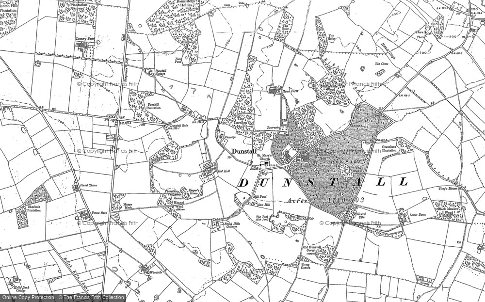 Old Map of Historic Map covering Bannister's Hollies in 1882