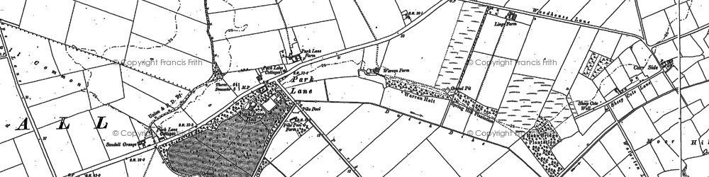 Old map of Wyndthorpe Hall in 1891