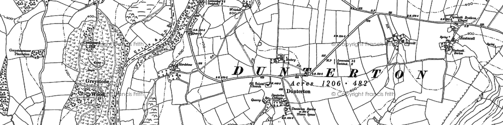 Old map of Timbrelham in 1905
