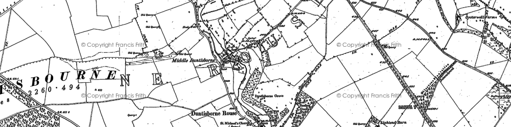 Old map of Duntisbourne Rouse in 1882