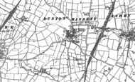 Old Map of Dunton Bassett, 1885 - 1901