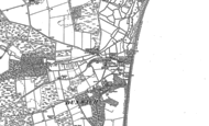 Old Map of Dunwich, 1883 - 1903