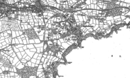 Old Map of Duporth, 1881 - 1906