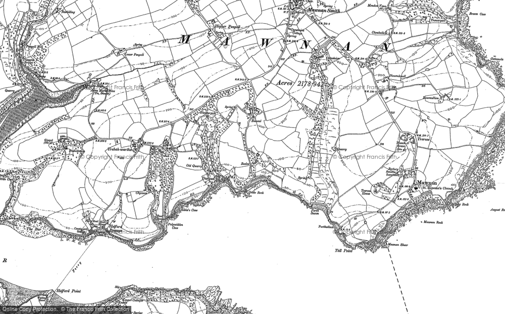 Old Map of Durgan, 1906 in 1906