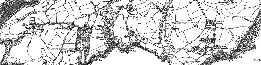 Old map of Durgan in 1906