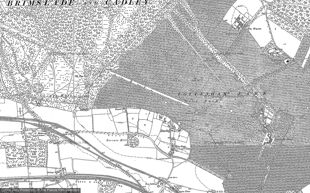 Old Map of Durley, 1899 in 1899