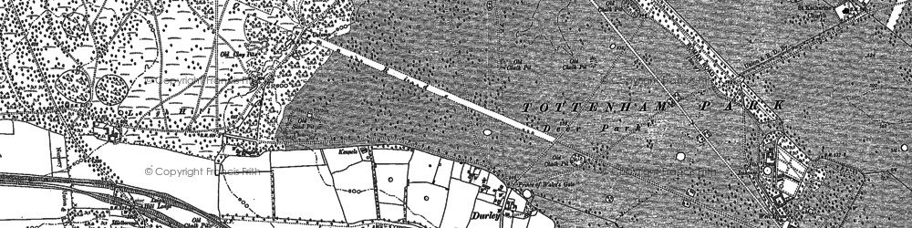 Old map of Durley in 1899