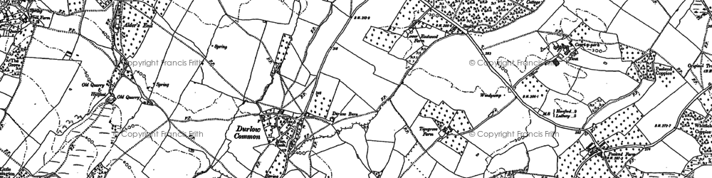Old map of Alder's End in 1887