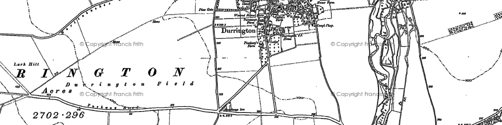 Old map of Woodhenge in 1899