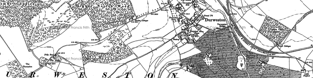 Old map of Durweston in 1886